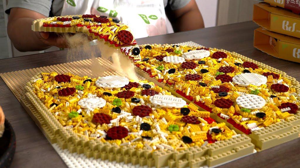Extra Large LEGO Pizza