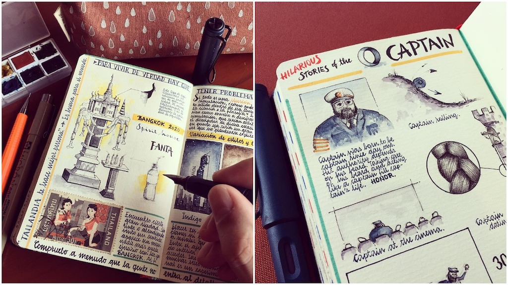 Former Aeronautical Engineer Fills Notebooks With Detailed Sketches of His Ongoing World Travels