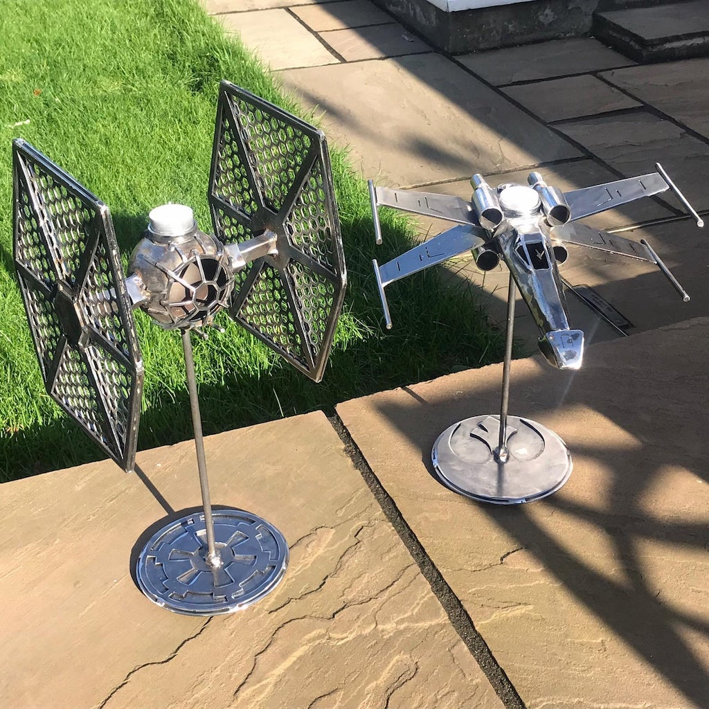 XWing TieFighter Candlesticks Outside