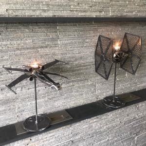 XWing TieFighter Candlesticks