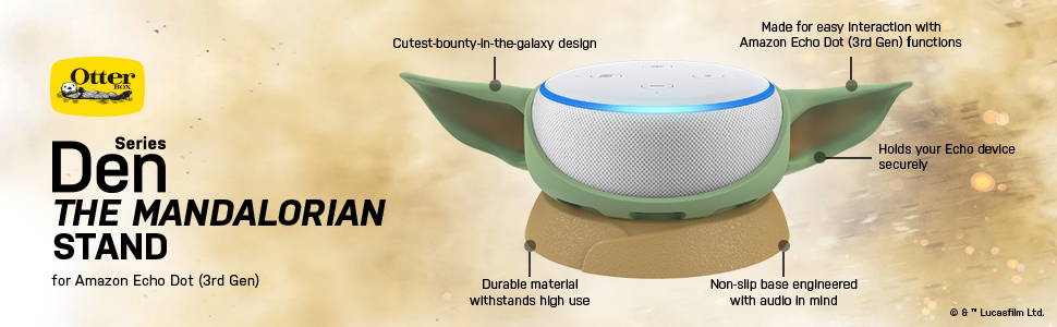Baby Yoda Amazon Dot Stand Features