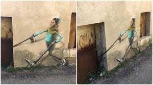 Boy Walking Something Street Art