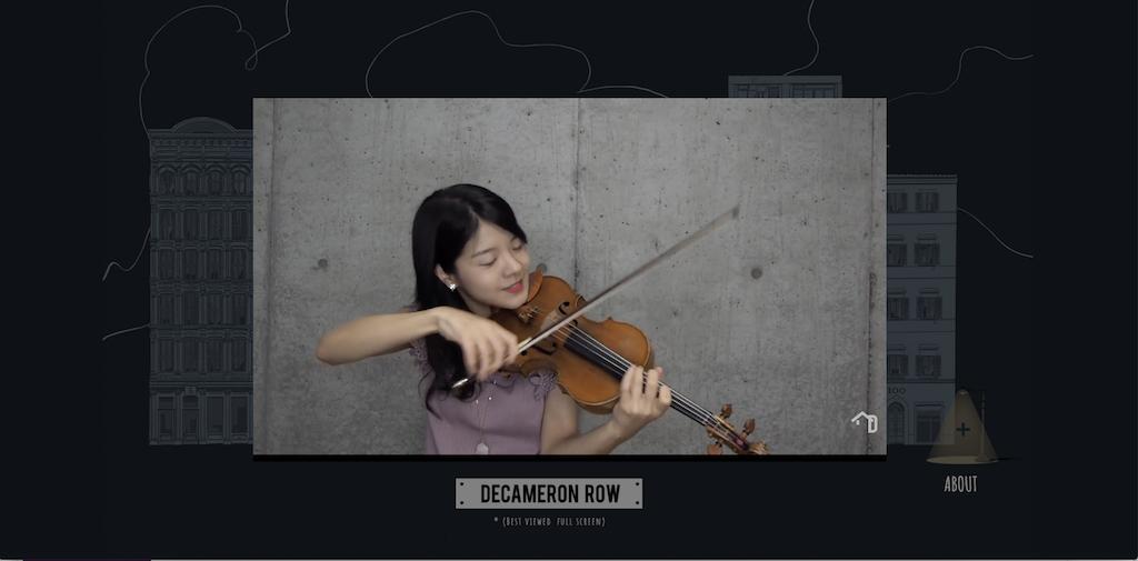 Decameron Row Japanese Violinist