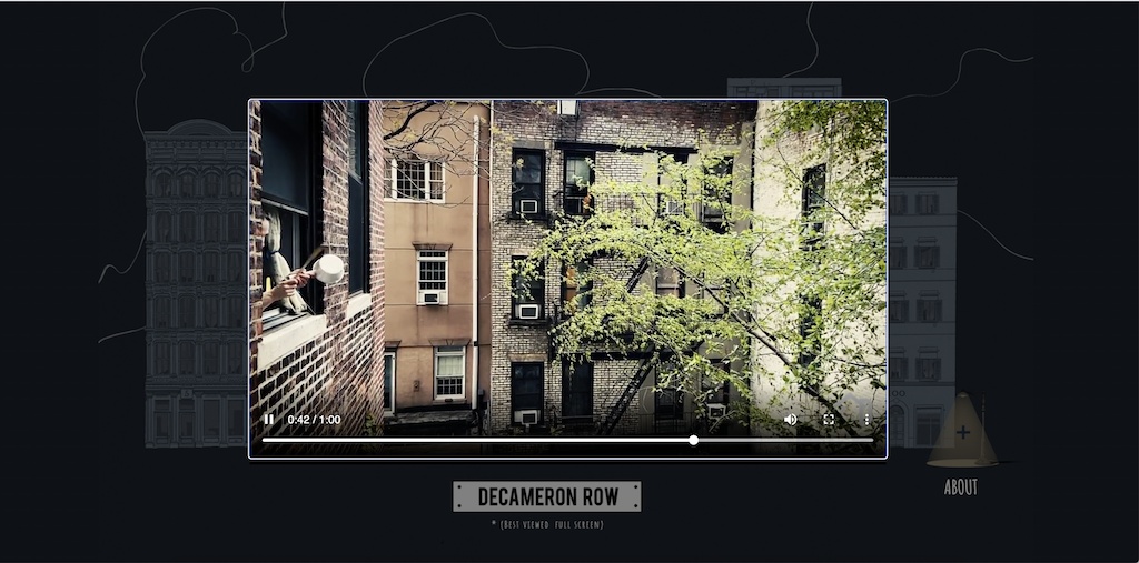 Decameron Row NYC Courtyard