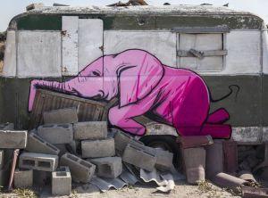 Falko Fantastic Elephant Street Art