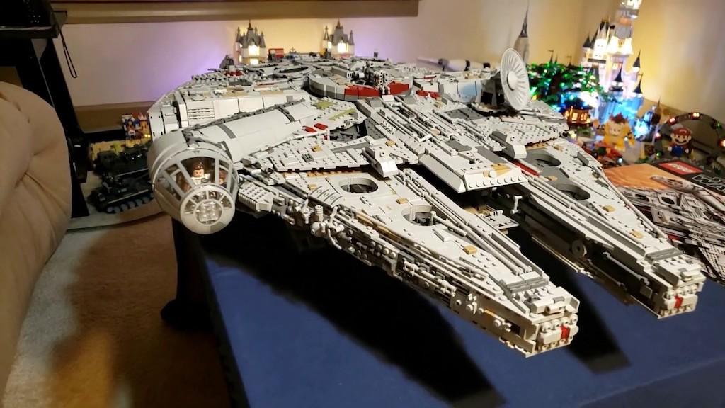 A Giant LEGO Millennium Falcon Builds Itself Using 'The Force' in a Clever Stop-Motion Animation