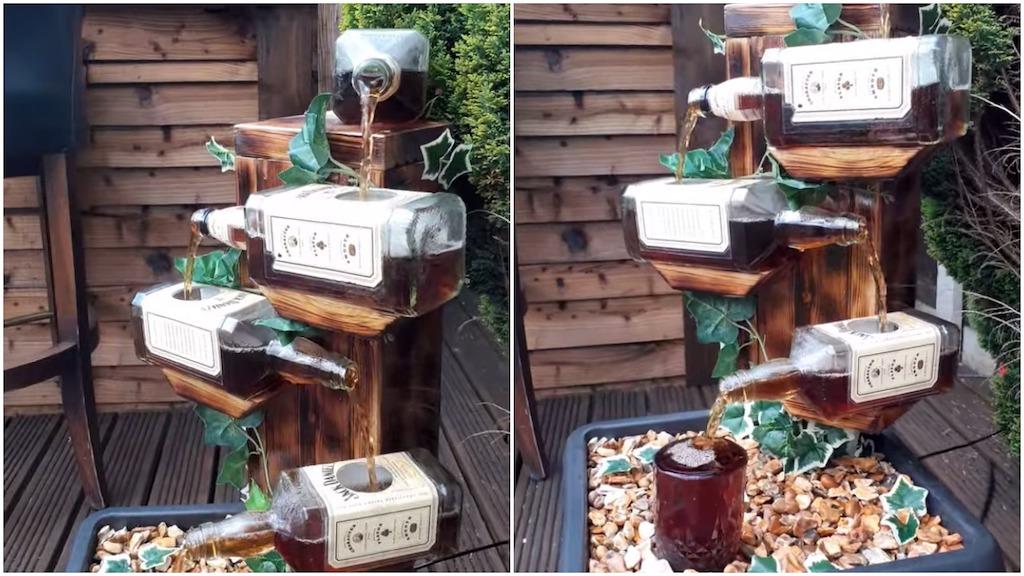 An Ingenious Jack Daniel's Whiskey Fountain