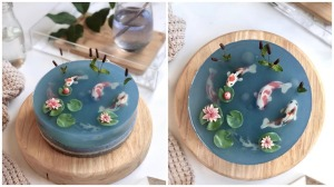 Koi Pond Mousse Cake