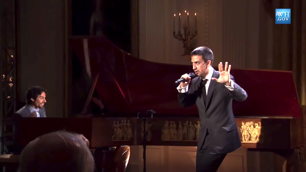 Lin-Manuel Miranda Performs at the White House Poetry Jam