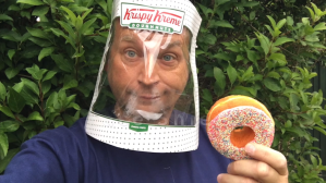 Make Your Own Krispy Kreme Face Shield