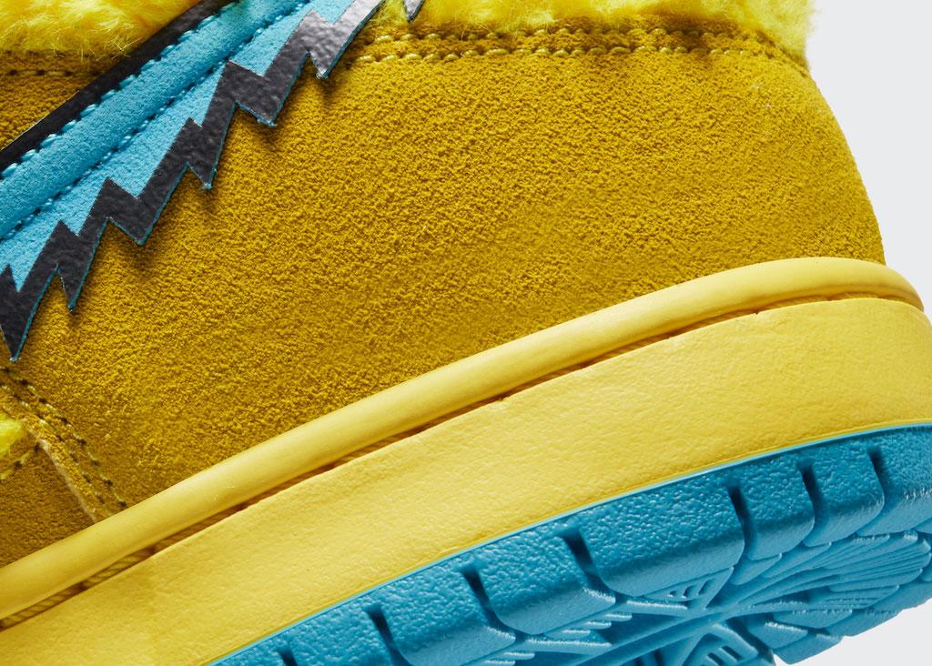 NIKE Grateful Dead Sneaker Side Yellow