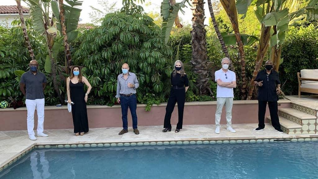 Star Trek TNG Reunite Patrick Stewarts 80th in Masks