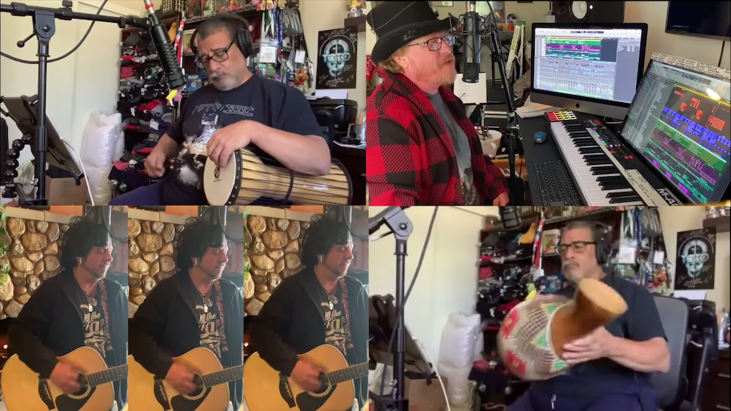 Members of Toto Cheerfully Perform 'Africa' From Home