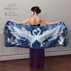 Bewicks Swan Scarf Dress