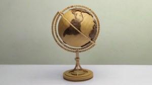 Cardboard and Popsicle Stick Globe