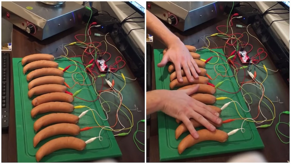 German Hacker Turns Sausages Into a Working Piano