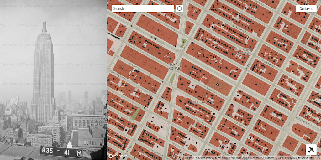 A Wonderful Interactive Map Featuring Photos of Every Building in New York City Taken Between 1939-1941