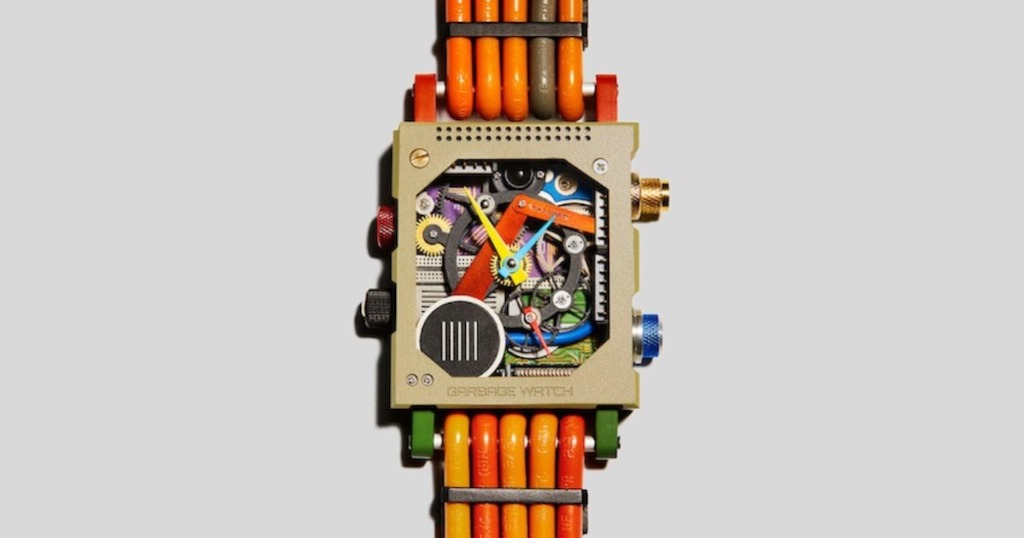 A Sleek Watch Made From Recycled Electronics