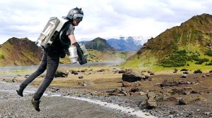 Gravity Jet Suit Over Iceland