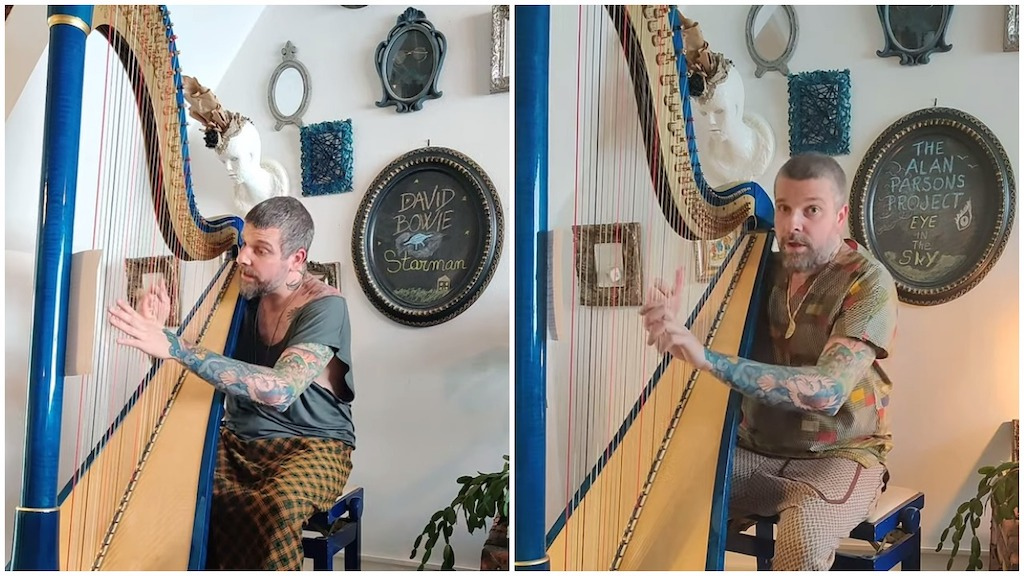 Beautiful Covers of Classic Rock Songs Played on Harp