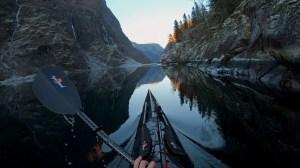Kayak Footage Slow Motion Fjords