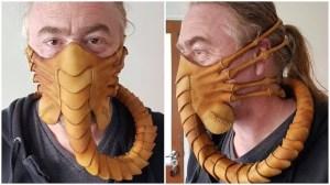 Pirate Leatherworks Alien Face Mask