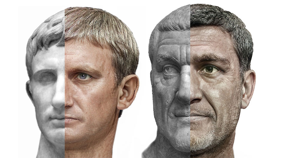 Roman Emperors Split Face
