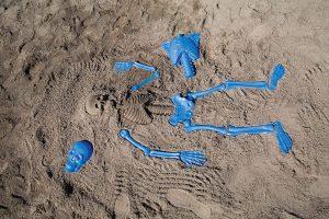 Skeleton Sand Mold Beheaded Beach