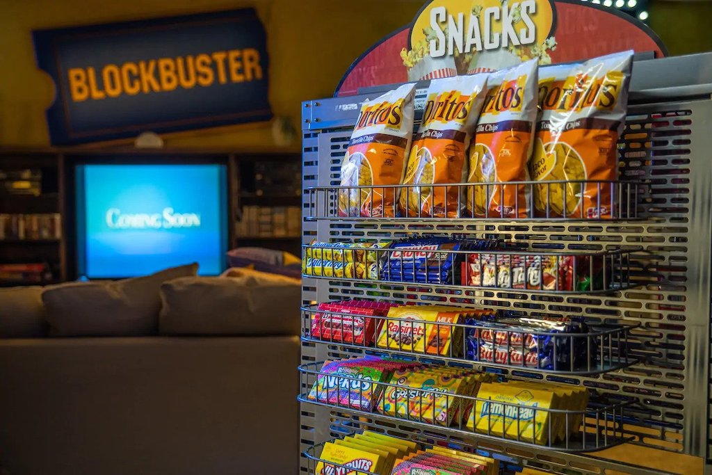 The Last Blockbuster Snacks Airbnb