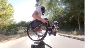 Wheelchair Skateboarder