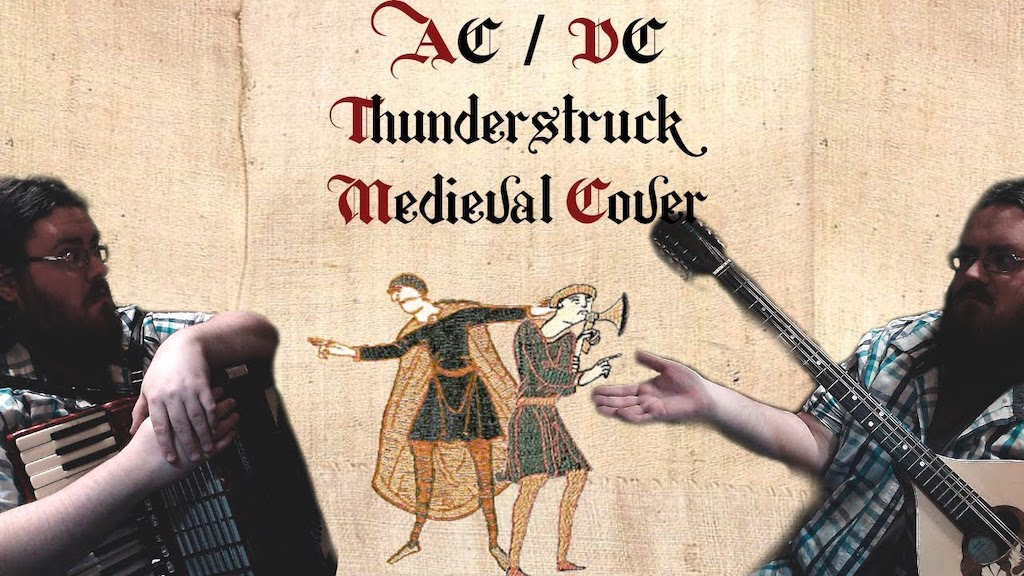 Musician Performs Badass Medieval Cover of the AC/DC Song 'Thunderstruck' on Mandola and Accordion - laughing squid