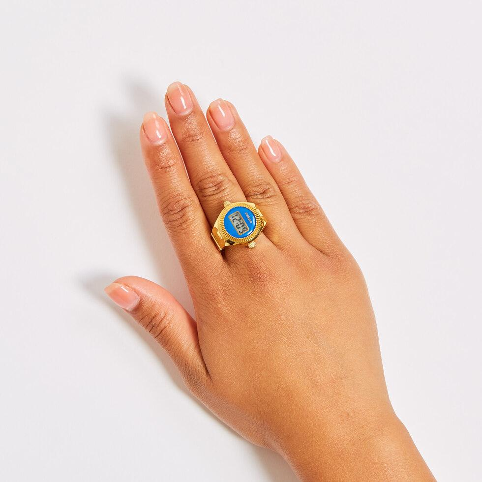 Finger Watch Blue