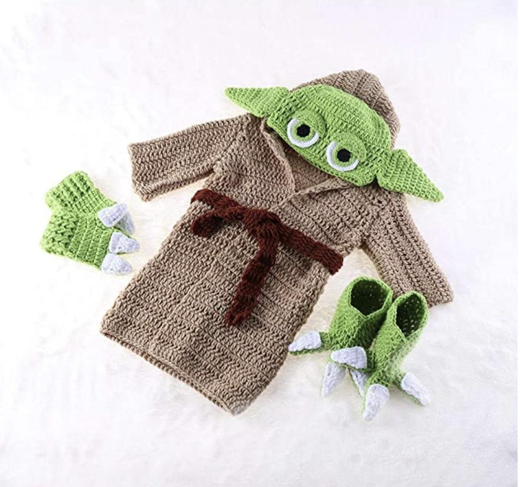 Hand Knit Baby Yoda Costume