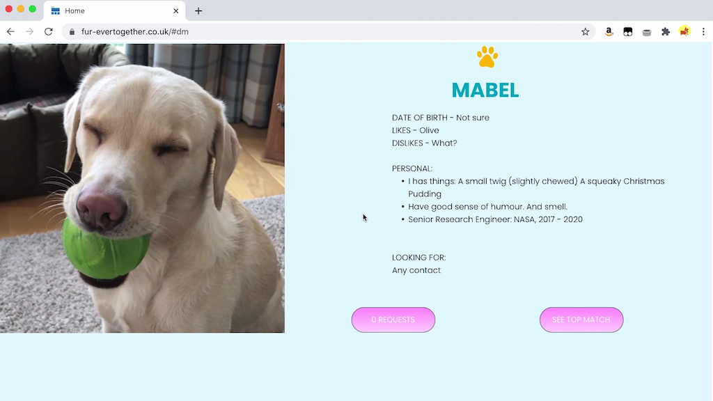 Mabel Looking for Love