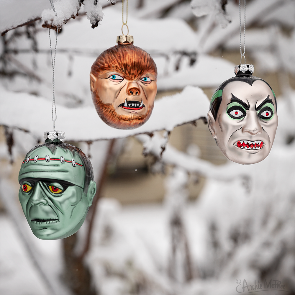 Monster Ornaments Snow