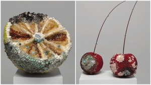 Rotting Fruit Sculptures Beads Gems