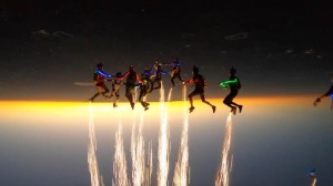 Skydiving Light Show