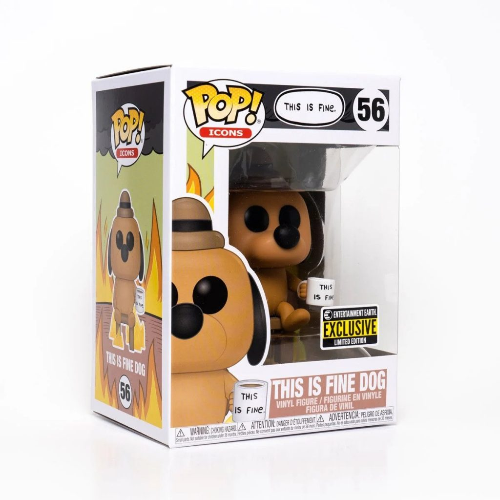 This Is Fine Vinyl Figure Box