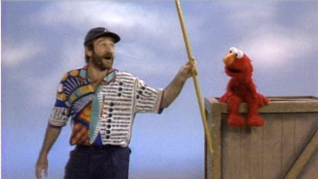Hilarious Blooper Footage From an Elmo and Robin Williams Sketch For a 1991 Sesame Street Special