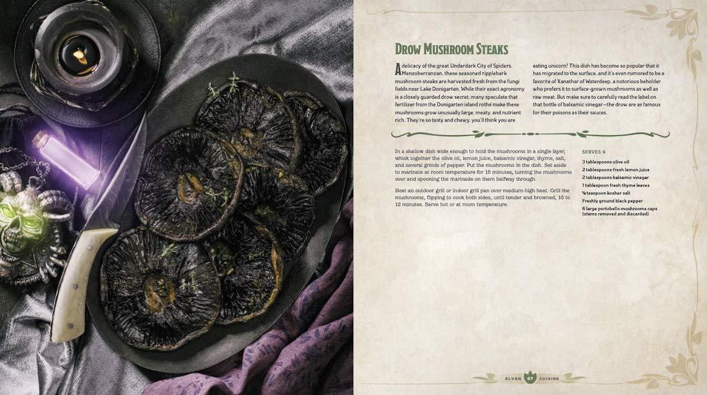 Heroes Feast D and D Cookbook Drow Mushroom Steaks
