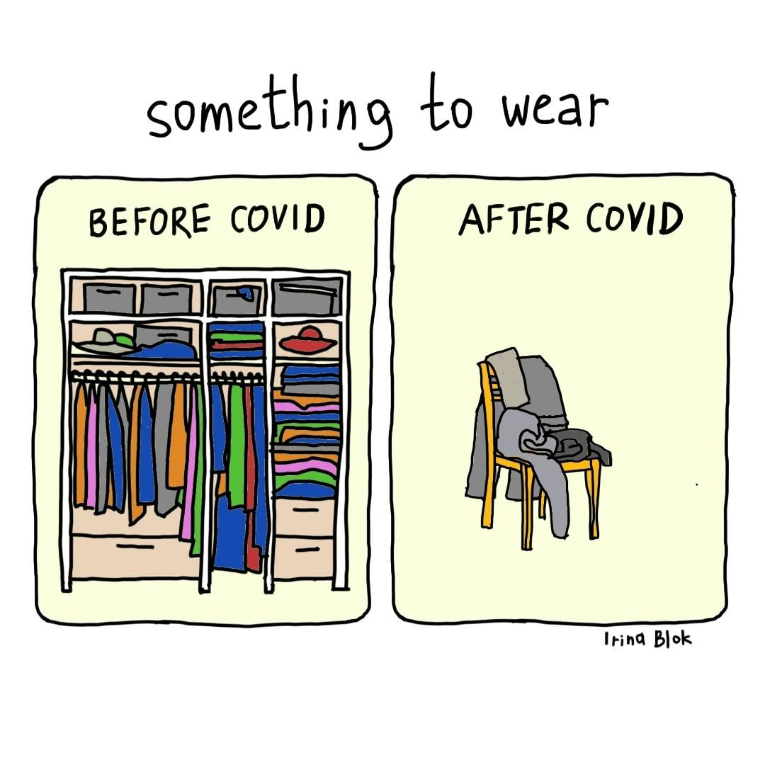 Clever Illustrations of Life Before and After COVID