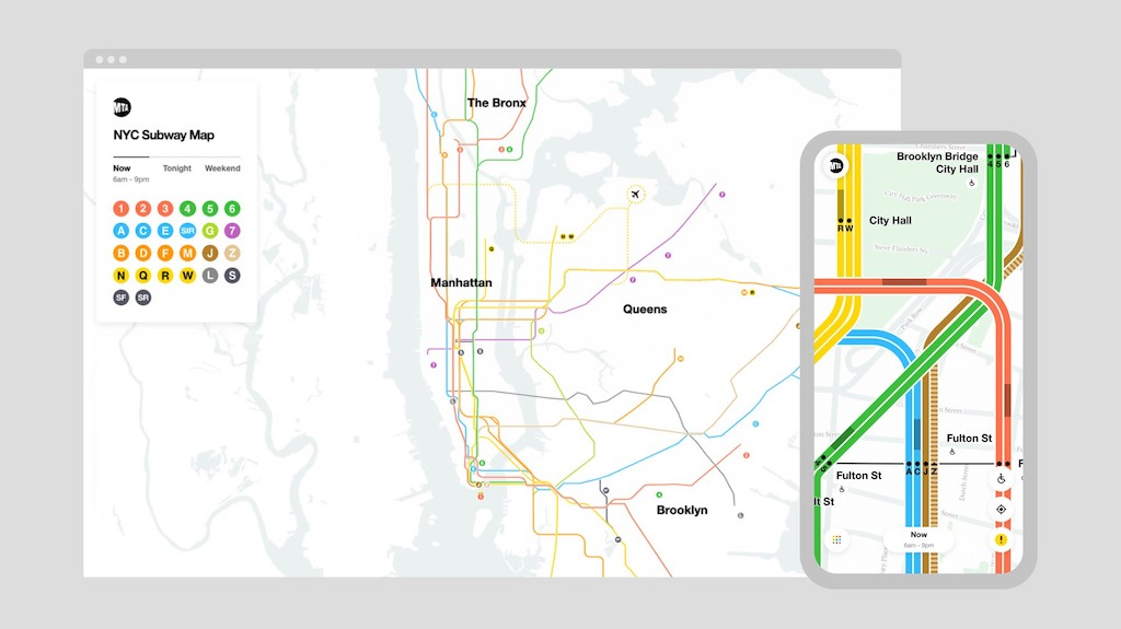 MTA Introduces a Redesigned NYC Live Subway Map