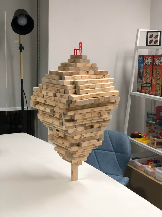 518 Jenga Blocks on One