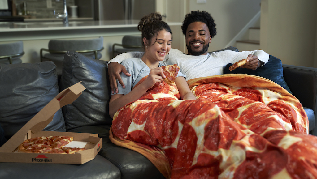 Pizza Hut Gravity Blanket Couch