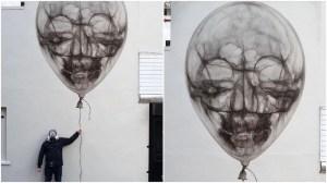 Skull Balloon Mural Airhead