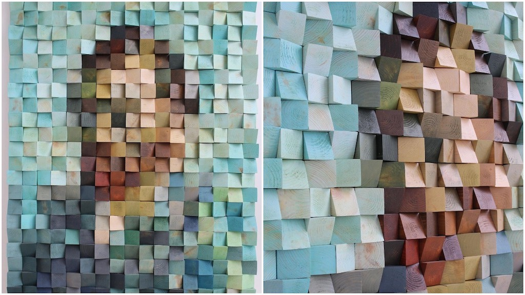 Vincent Van Gogh Self Portrait Wooden Blocks