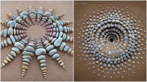 Artfully Arranged Beach Sculptures
