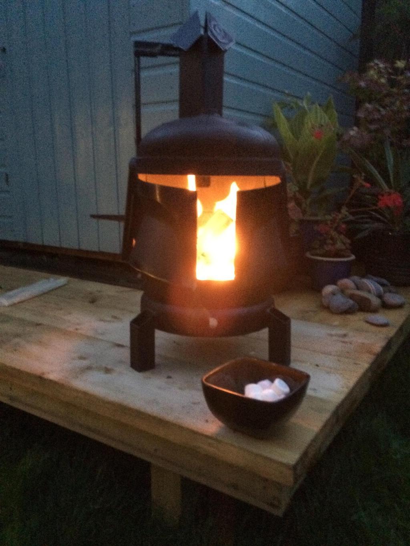 Boba Fett Wood Burner Burning