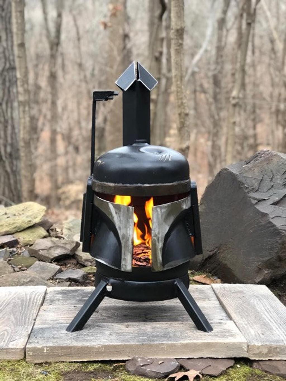 Boba Fett Wood Burner Outdoors