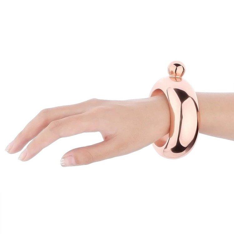 Flask Bangle Bracelet Pink